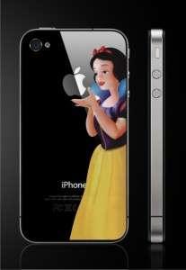 US SHIP Snow white Black Cover Vinyl Decal Sticker Skin Apple iPhone 4