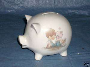 1984 PRECIOUS MOMENTS STILL COIN PIG PIGGY BANK |