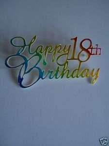 happy 18th birthday cake decoration £ 0 99