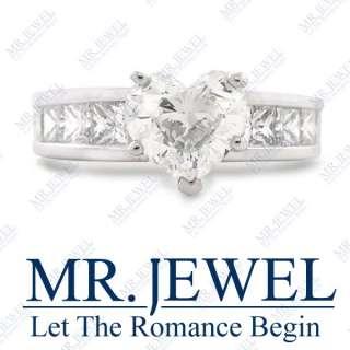 20 H VS HEART SHAPE DIAMOND ENGAGEMENT RING 14K WHITE