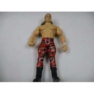 WWF Wrestling Shawn Michaels Action Figure with Red Heart