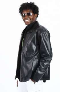 United Face Mens New Lightweight Black Lambskin Leather Jacket Size XL