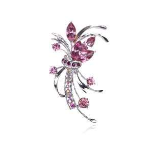 Bouquet Fashion Collectible Crystal Rhinestone Pin Brooch Jewelry