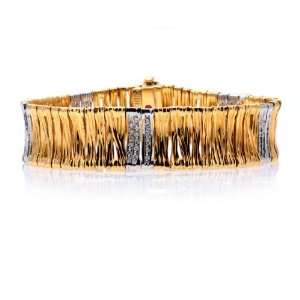 Roberto Coin Vintage 18k Yellow Gold Diamond Bracelet: Roberto Coin