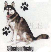 SIBERIAN HUSKY DOG CARDIGAN SWEATER