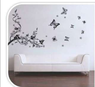 Butterfly Flowers Trees Wall Stickers / Wall Decals Vinyl Art Decal